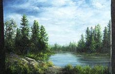 Do you find inspiration sitting by the lake? Watch Kevin as he shows you how to paint this calm lake scene with a few detailed trees and grassy foreground. For more information on full length DVD lessons, please visit: www.paintwithkevin.com