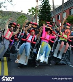 Dressing up as a rollercoaster