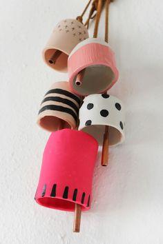 Easy decorative clay bell DIY