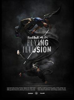 Red Bull Flying Illustion by I AM BERNHARD
