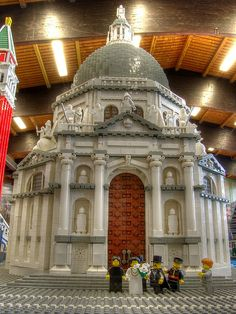 """A detail photo of a massive Minifig scale model of """"Santa Maria della Salute"""" and other Venice Landmarks by HoMa.  Also http://www.mocpages.com/moc.php/4544"""