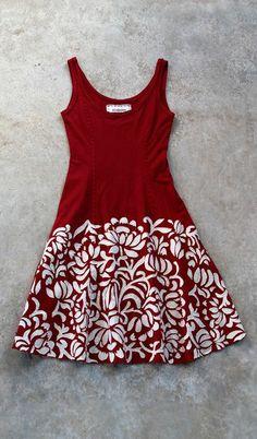 Very cool DIY applique dress. Alabama Chanin dress