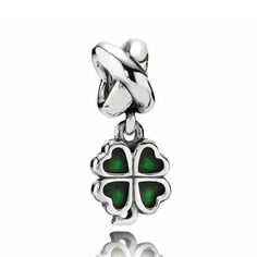 Pandora Green Four-Leaf Clover Charm $50 #Pandora #Charm