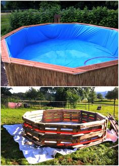 Make a Swimming Pool Out Of Pallets - 12 Low Budget DIY Swimming Pool Tutorials - DIY & Crafts