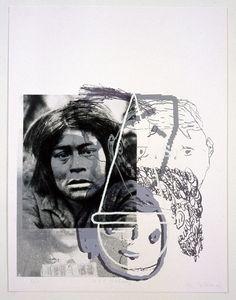 Eugenio Dittborn - H.H.F. (Selknam), Print