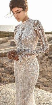 Lace Sleeves Wedding Dresses (31)