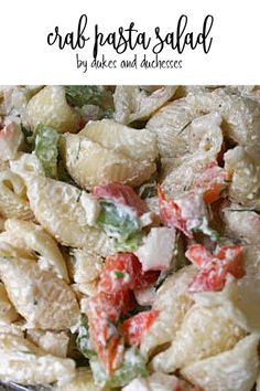 Make this crab pasta salad for a delicious summer meal!