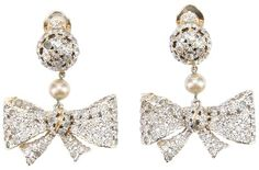 VALENTINO VINTAGE bow earrings