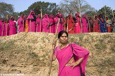 Gang des saris roses