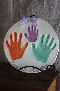 3 Generation Ceramic Handprints