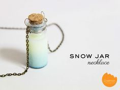 How to make glittery snow jar (fairy dust) necklace in less than 5 minutes! | @onelmon