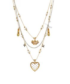 I own this one. Betsey Johnson necklace with crystal heart