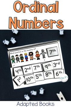 Interactive and adapted books makes everything more fun and engaging! Students will love practicing math skills with these ordinal number books. They come in 2 levels to save you time and meet your students' needs. They are great for special education and inclusion settings and easy to sanitize. A must have for autism classes, kindergarten, first grade, life skills program and other self-contained classrooms.