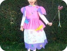 Costume fée des papillons en intissé. www.tadaam.fr
