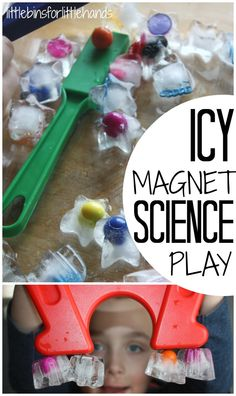 Ice Magnet Science Activity Exploring frozen magnets play