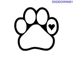 Rip Dog, Geometric Shapes Art, Dog Line, Pet Memorial Stones, Small Tats, Outline Drawings, Art Drawings, Dog Paws, Svg Cuts