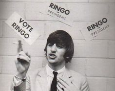 Interviewer: Ringo, would you nominate the others as part of your cabinet [if you were president]? Ringo: Well, I'd have to, wouldn't I? George: I could be the door. John: I could be the cupboard. San Francisco press conference, 18th August 1964