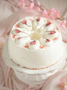* ふわしゅわ ♡ 桜のシフォンケーキ♪