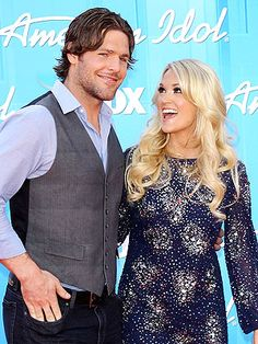 Carrie Underwood and Mike Fisher Beautiful Voice, Beautiful Person, Beautiful Couple, Carrie Underwood American Idol, Adorable Couples, Country Women, Country Music Singers, Famous Couples, Carrie Fisher