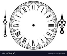 Vector Vintage Clock On White Illustration Stok Vektör (Telifsiz) 1191616963 Clock Face Printable, Clock Drawings, Laser Cut Lamps, French Clock, Heart Tattoo Designs, Steampunk Design, Diy Clock, New Years Decorations, Wooden Clock