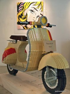 """""""Art, a piece at a time"""" by Eugene Tan, Singapore   jackisnotdull Fancy a life-size Vespa scooter made entirely out of Lego bricks?"""