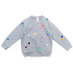 Sweater Triangle grey / pom berlin