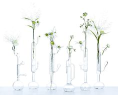 Elise Fouin: Chimisterie glass bud vases for your flowers and floral arrangements. #wedding