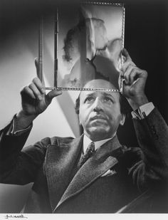 Yousuf Karsh, Self-Portrait 1946[examining the negative of the actress Peggy Cummins, ref]   entregulistanybostan:    Autorretrato Yousuf Karshi12bentCanadian master photographer - Yousuf Karsh (Dec. 23, 1908 - 2002): Self-Portrait  via http://chagalov.tumblr.com/
