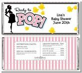 Ready To Pop Pink - Personalized Baby Shower Candy Bar Wrappers. These are a perfect way to decorate any type of candy bar you like for your baby shower! We even offer a tutorial on how to wrap them!