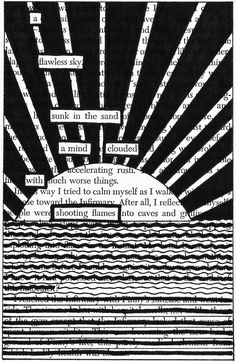 Sinking | Black Out Poetry | C.B. Wentworth
