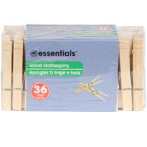 Bulk The Home Store Wooden Clothespins, 36-ct. Packs at DollarTree.com always need these for count and clip games