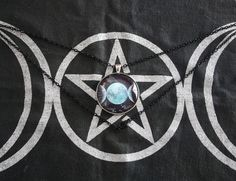 Your place to buy and sell all things handmade Triple Moon Goddess, Moon Crafts, Pagan Witch, Goddess Art, Round Pendant, Glass Domes, Silver Rounds, Glass Pendants, Wicca