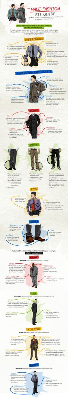Gents Wear Shirts But Not Before You See This Infographic
