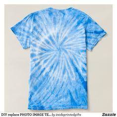 DIY replace PHOTO IMAGE TEXT blue CIRCLES T-shirt