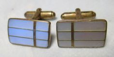 Vintage Mother of Pearl CUFFLINKS MEN'S Retro Jewelry by crownhill