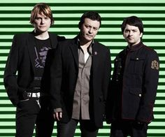 Manic Street Preachers PHOTO 2009  From left: Nicky Wire,James Dean Bradfield & Sean Moore