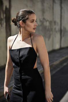 Halter Neck Dress | Christopher Esber | Black Dress | Backless | Style | Outfit | HarperandHarley