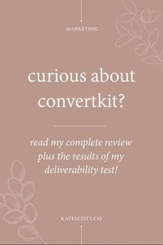 Curious about #ConvertKit? In this guide, I'll walk you through my ConvertKit dashboard and dish on all the features! // Kate Scott Co -- #emailmarketiing #business Online Marketing Strategies, Email Marketing Strategy, Media Marketing, Creative Business, Business Tips, Online Business, Online Entrepreneur, Business Entrepreneur, Business Checks