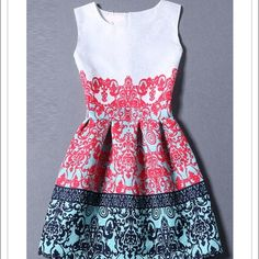 Tribal print dress This cute midi dress features tribal print and sleeveless design. It's classic and elegant. It is absolutely one ideal dress for spring. Worn once. Like new Oasap Dresses Midi