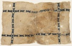 Egyptian embroidery, Textile fragment, possibly from a dish cover (ancient Egyptian potlucks?)