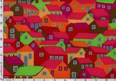 Brandon Mably Fabric Shanty Town Autumn (per 1/4 metre)