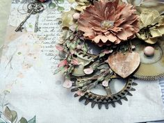 Life's little Embellishments: Sweet and Market*** Flower Paper, Paper Lace, Shade Flowers, Stamp Pad, Flower Center, Walnut Stain, Tim Holtz, Potpourri, Swirls
