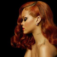 Color Trend Alert! RiRi's burnt orange is the new black. #ColorInspiration #OrangeIsTheNewBlack #BetterHaveMyColor #BBHMM by mayvennhair
