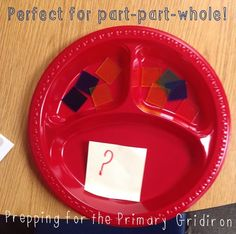 Part-Part-Whole - a great way to give kids a visual, hands-on approach to solving addition and subtraction equations {Prepping for the Primary Gridiron} 1st Grade Math, Grade 2, Math Projects, Projects To Try, Part Part Whole, Daily 3, Adding And Subtracting, Addition And Subtraction, Problem Solving
