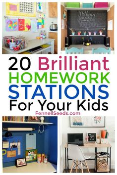 Wooden Home Decor Genius Homework Stations Your Kids Will Love. These homework command centers will help define where homework should be done for your kids. Kids Homework Room, Homework Table, Kids Homework Station, Boys Desk, Kid Desk, School Supplies Organization, Organization Hacks, Kids Homework Organization, Organizing Tips