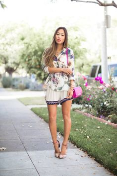 Floral & Embellishments // Song of Style Passion For Fashion, Love Fashion, Fashion Beauty, Girl Fashion, Summer Chic, Spring Summer Fashion, Spring Style, Song Of Style, My Style