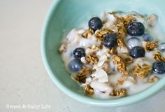 {Coconut Yogurt & GF Granola}   via A Sweet & Salty Life  #glutenfree #vegan