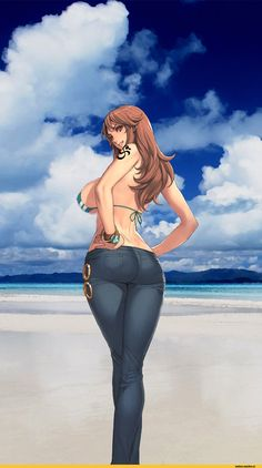 oda non Anime Art Nami (One Piece) One Piece Anime Toon, Chica Anime Manga, Anime Comics, Anime Art Girl, Manga Art, Nami Swan, Nami One Piece, Kawaii, Ecchi