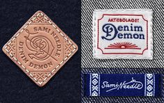 Denim Demon brand identity by Boy Bastiaens branding