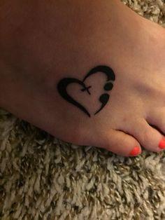 Image result for wrist tattoos semicolon heart